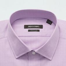 Purple shirt - Hadleigh Plaid Design from Premium Indochino Collection