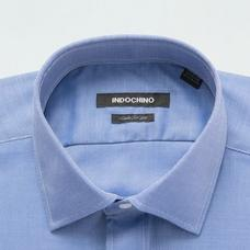 Blue shirt - HALEWOOD Solid Design from Premium Indochino Collection