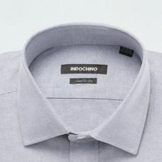 Gray shirt - Hartland Solid Design from Premium Indochino Collection