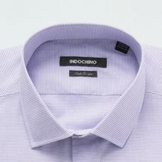 Purple and White shirt - Checked Design from Indochino Collection