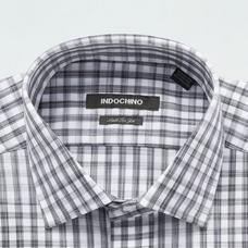 Gray shirt - LEYLAND Checked Design from Seasonal Indochino Collection