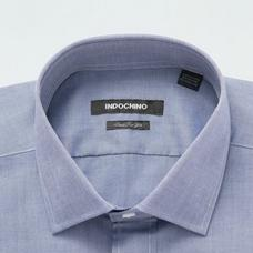 Blue shirt - WOODBRIDGE Solid Design from Seasonal Indochino Collection