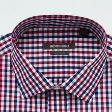Burgundy shirt - Leston Checked Design from Seasonal Indochino Collection