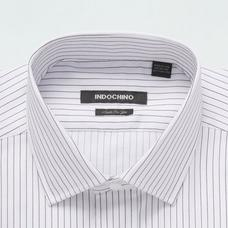 Brown shirt - Denton Striped Design from Seasonal Indochino Collection