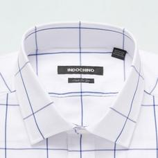 Blue shirt - Dolton Checked Design from Seasonal Indochino Collection
