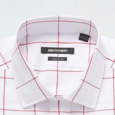 Red shirt - Dolton Checked Design from Seasonal Indochino Collection