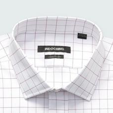 Burgundy shirt - Hedon Checked Design from Premium Indochino Collection