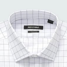 Navy shirt - Hedon Checked Design from Premium Indochino Collection