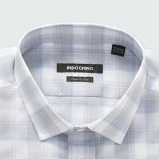 Blue shirt - Stalham Checked Design from Seasonal Indochino Collection