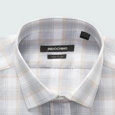 Gray shirt - Stalham Checked Design from Seasonal Indochino Collection