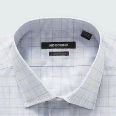 Gray shirt - STALHAM Plaid Design from Seasonal Indochino Collection
