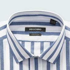 Navy shirt - Stroud Striped Design from Seasonal Indochino Collection