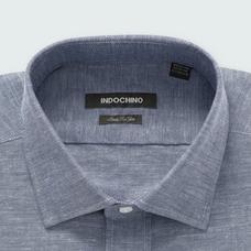 Navy shirt - SUDBURY Solid Design from Seasonal Indochino Collection