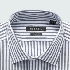 Navy shirt - SUDBURY Striped Design from Seasonal Indochino Collection