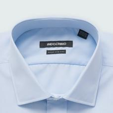 Blue shirt - HELSTON Solid Design from Premium Indochino Collection