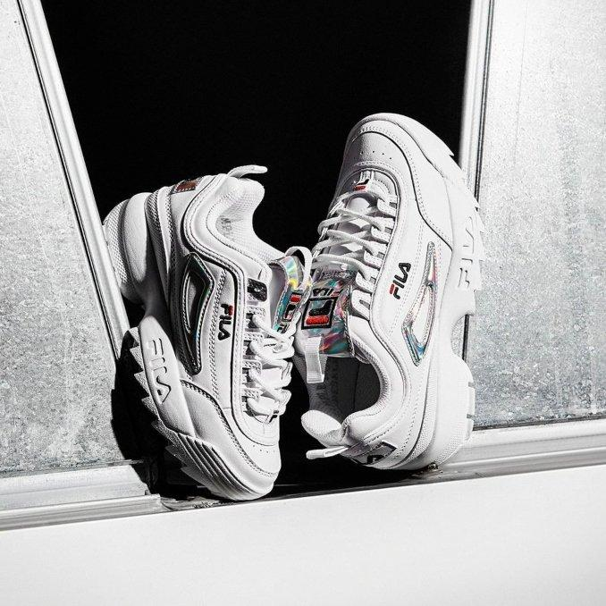 zapatillas fila disruptor blancas chunky