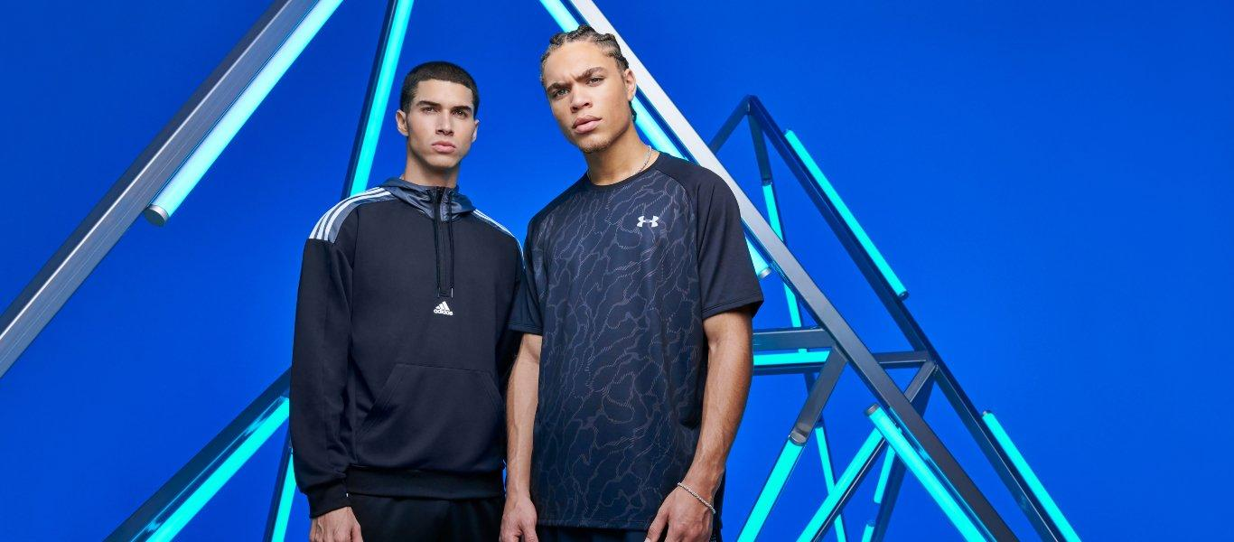 Looks para hombre de adidas y Under Armour