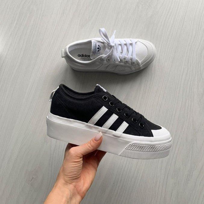 Adidas Originals Nizza Platform White and Black