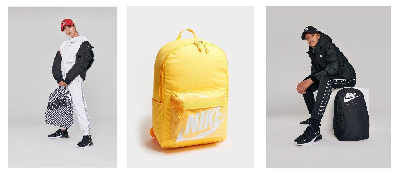 Mochilas de Nike, adidas y Under Armour