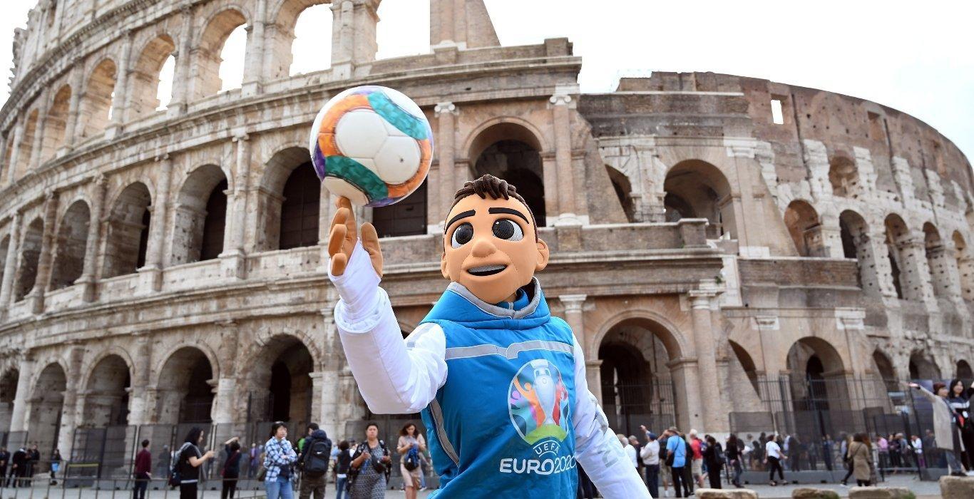 Mascota fútbol Eurocopa 2020