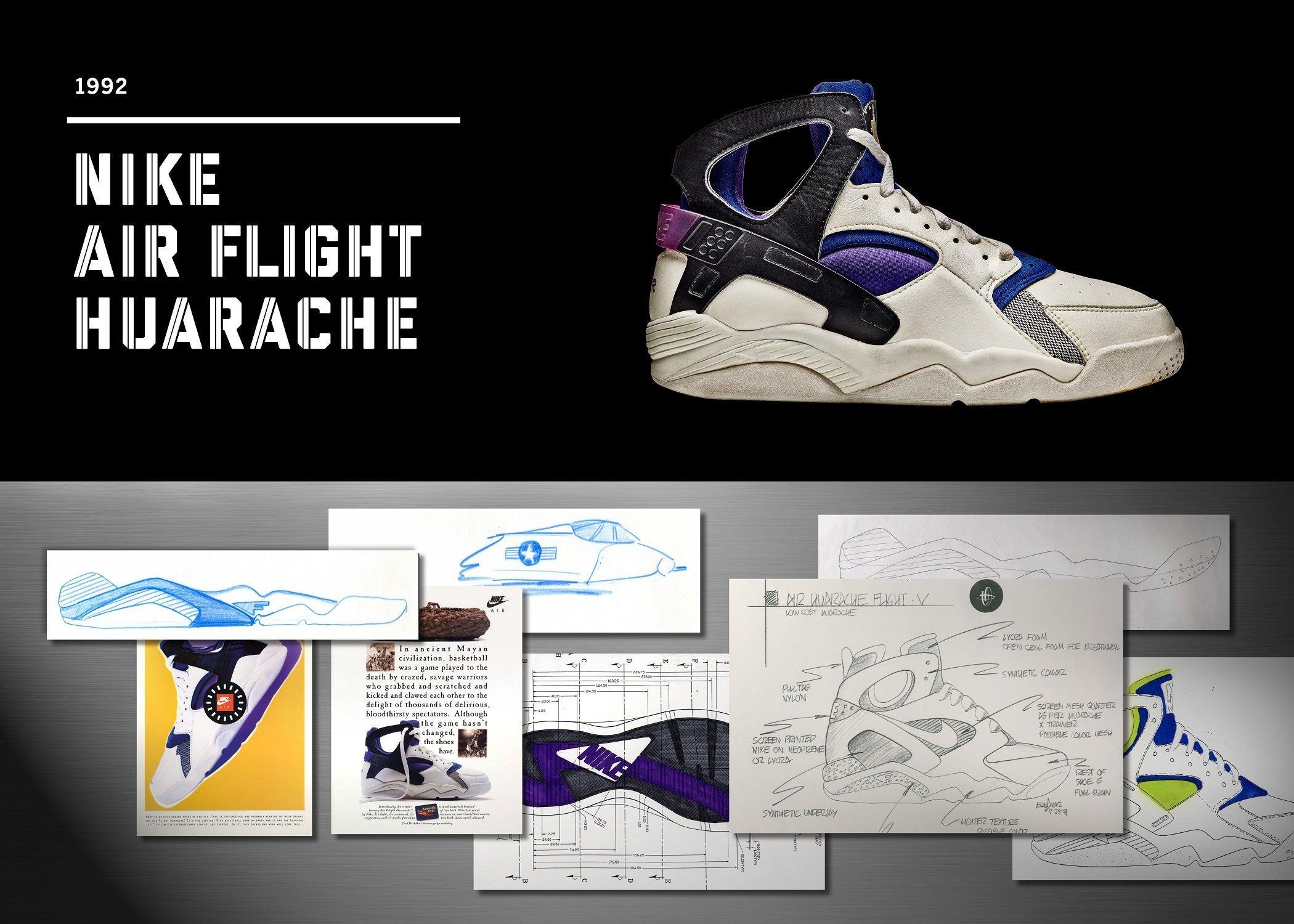 Nike Air Flight Huarache im Jahr 1992