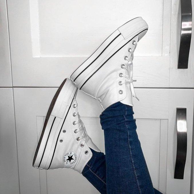 Zapatillas Converse Platform blancas para mujer