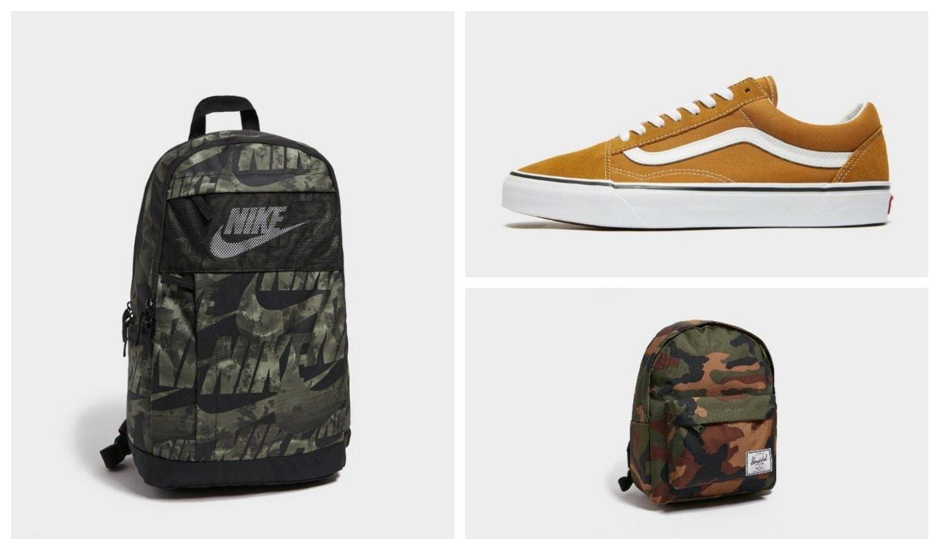 Nike, Vans, Herschel