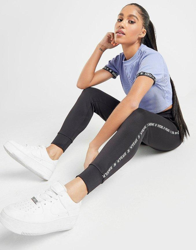 calças de fato de treino Siksilk para mulher