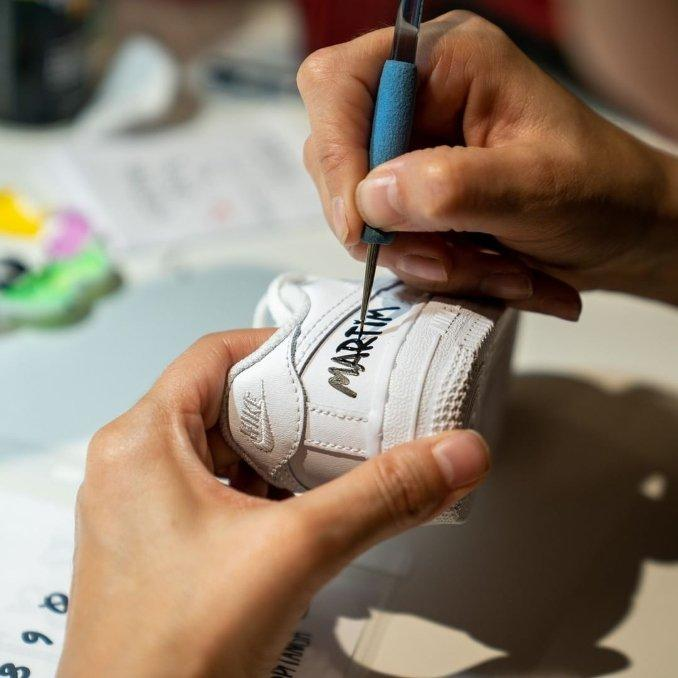 pitanga personalização sapatilhas
