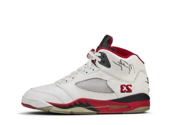 Air Jordan V white/fire red black