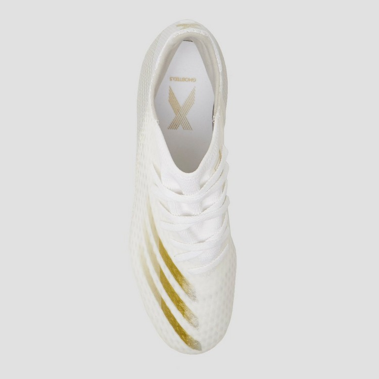 ADIDAS X GHOSTED.3 FG VOETBALSCHOENEN WIT/GOUD
