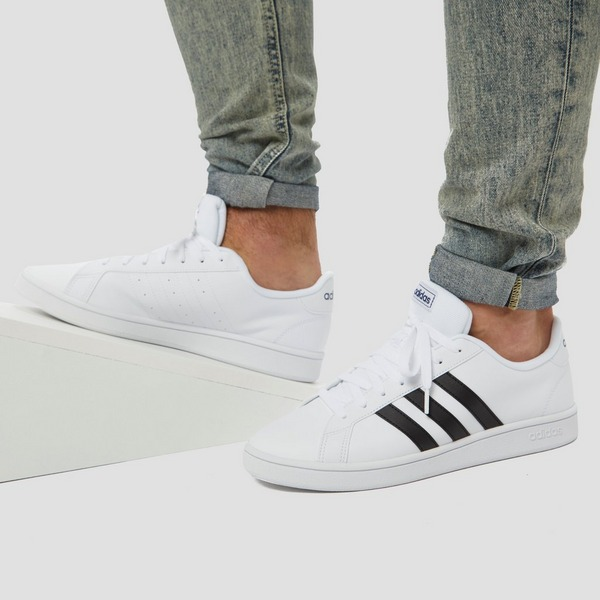 ADIDAS GRAND COURT BASE SNEAKERS WIT/ZWART HEREN