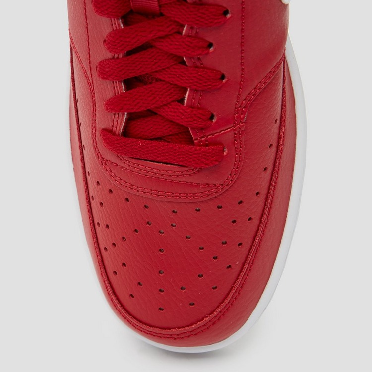 NIKE COURT VISION LOW SNEAKERS ROOD/WIT HEREN