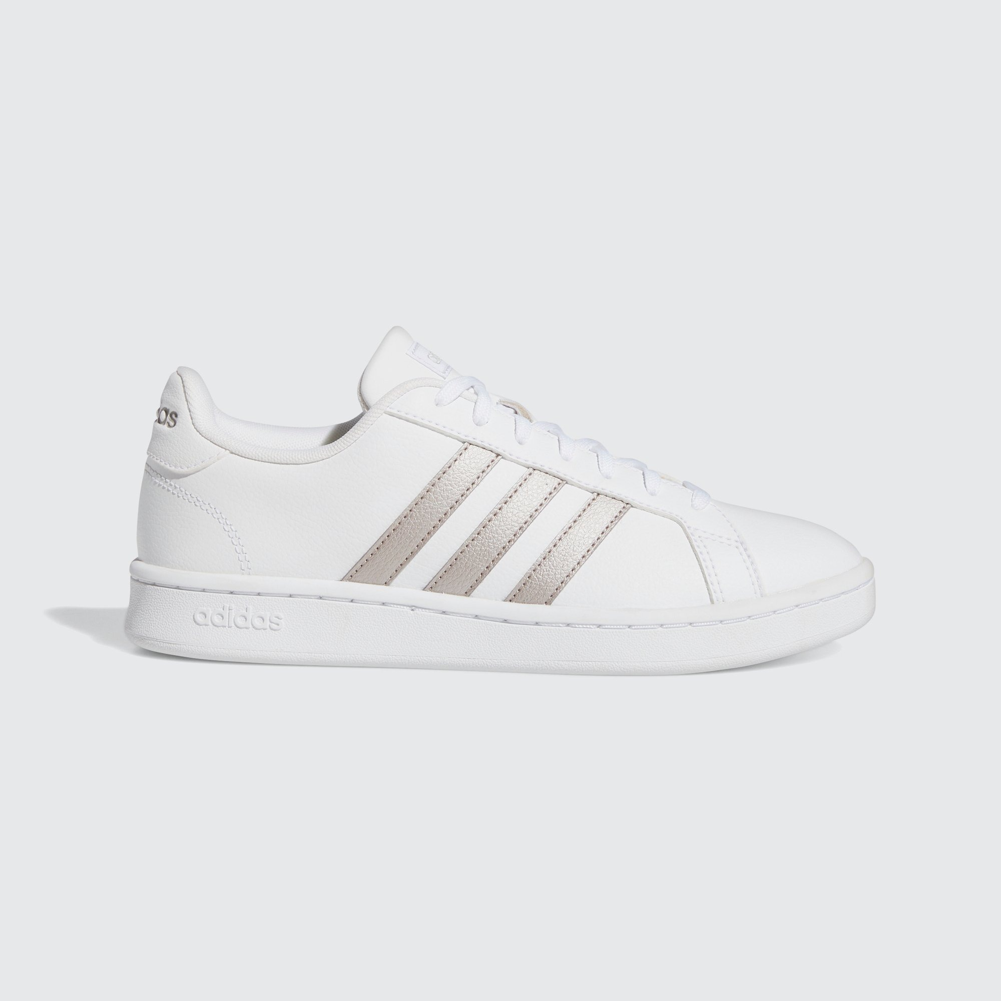 ADIDAS GRAND COURT SNEAKERS WIT/ZILVER DAMES | Aktiesport