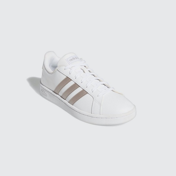 ADIDAS GRAND COURT SNEAKERS WIT/ZILVER DAMES