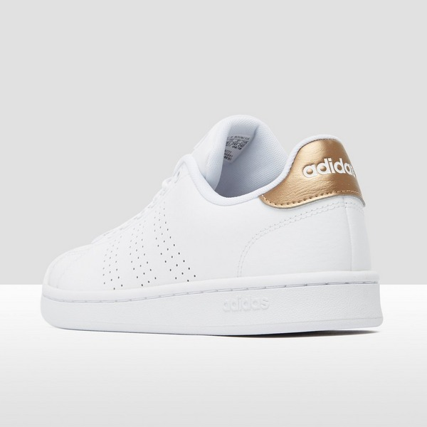 ADIDAS ADVANTAGE SNEAKERS WIT/GOUD DAMES | Aktiesport