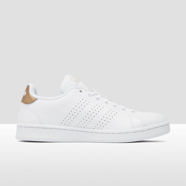 ADIDAS ADVANTAGE SNEAKERS WIT/GOUD DAMES