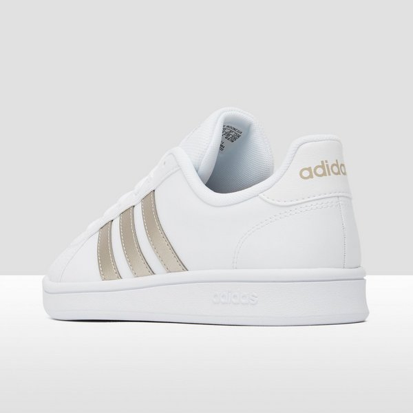 ADIDAS GRAND COURT BASE SNEAKERS WIT/GOUD DAMES