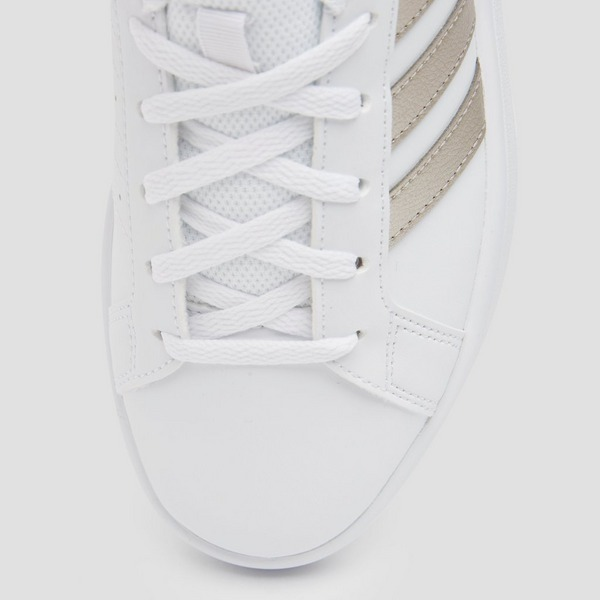 ADIDAS GRAND COURT BASE SNEAKERS WIT/GOUD DAMES | Aktiesport