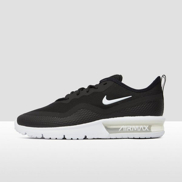 e5b00ae8251 NIKE AIR MAX SEQUENT 4.5 SNEAKERS ZWART/WIT DAMES | Aktiesport