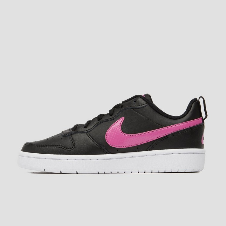 NIKE COURT BOROUGH LOW 2 SNEAKERS ZWART/ROZE KINDEREN