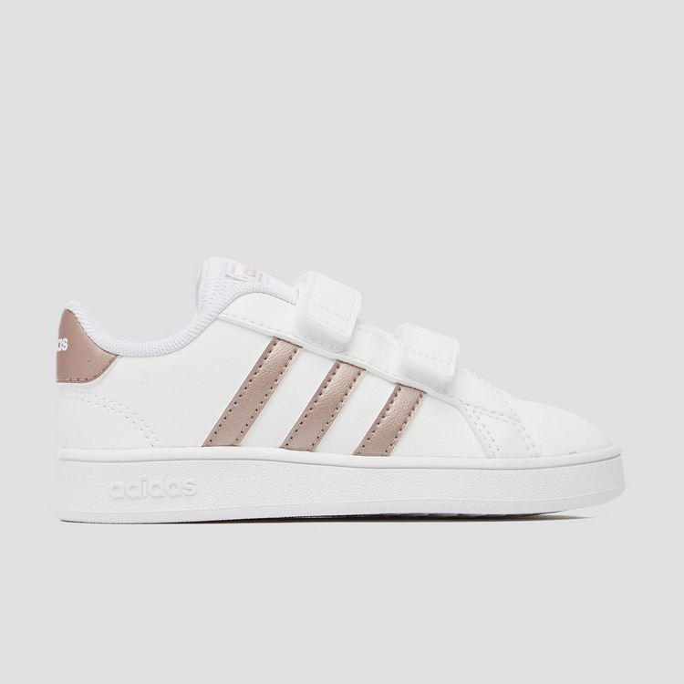 ADIDAS GRAND COURT SNEAKERS WIT/GOUD BABY