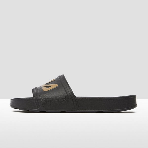 FILA SLEEK SLIDE SLIPPERS ZWART/GOUD DAMES