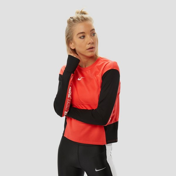 NIKE PACER GRAPHIC HARDLOOPTOP ROOD DAMES