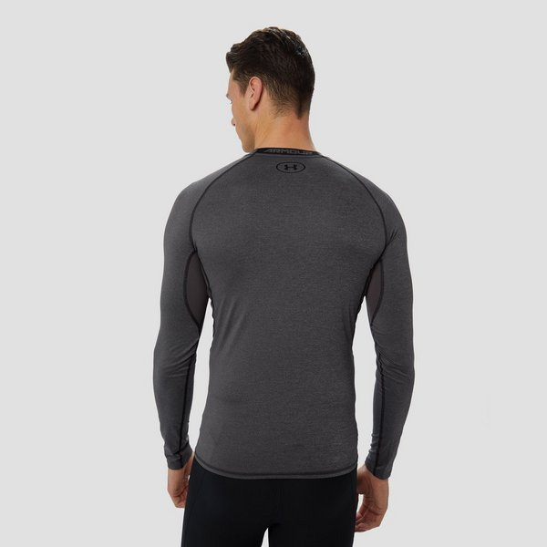 UNDER ARMOUR HEATGEAR ARMOUR COMPRESSIESHIRT GRIJS HEREN