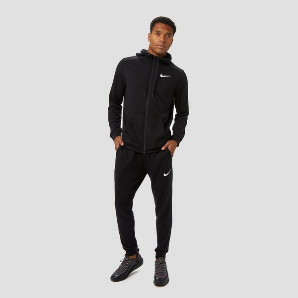 NIKE DRI-FIT TAPER FLEECE SPORTBROEK ZWART HEREN