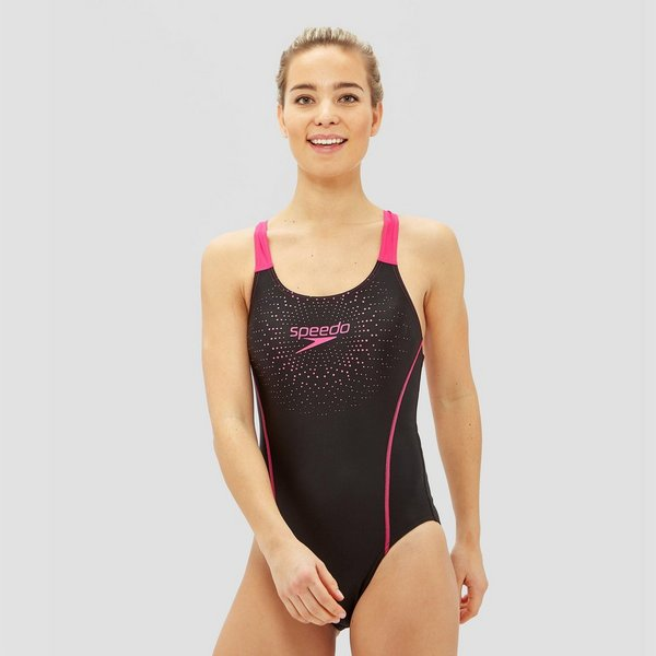 Speedo Badpak Zwart.Speedo E10 Gala Medalist Badpak Zwart Roze Dames Aktiesport