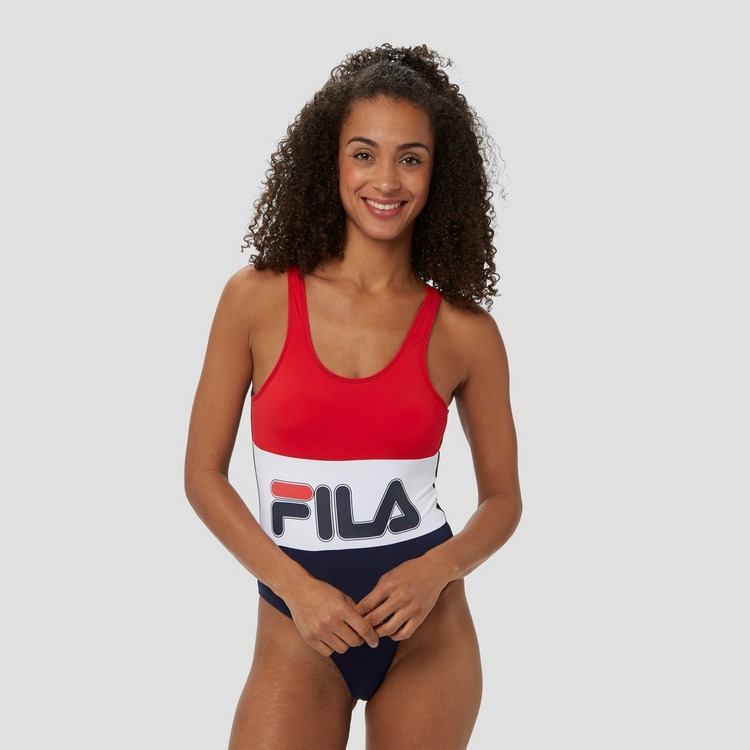 FILA SPIAGGIA BADPAK ROOD/WIT DAMES