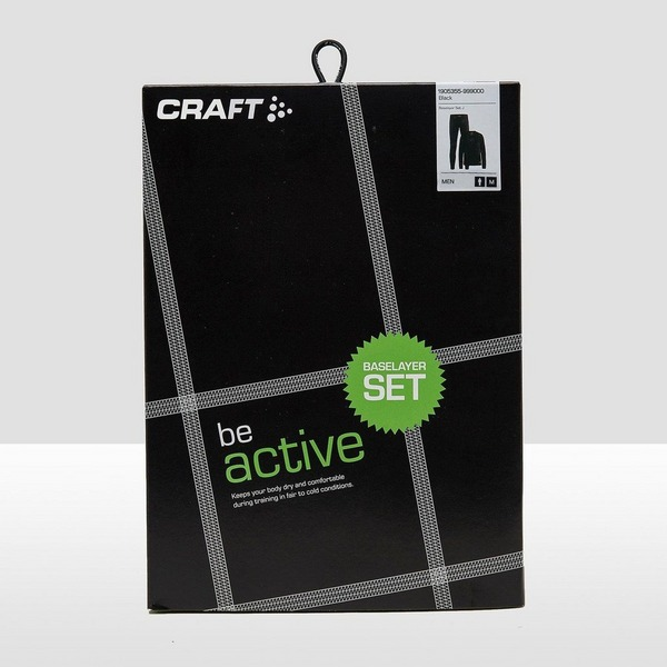 CRAFT BASELAYER THERMOSET ZWART HEREN