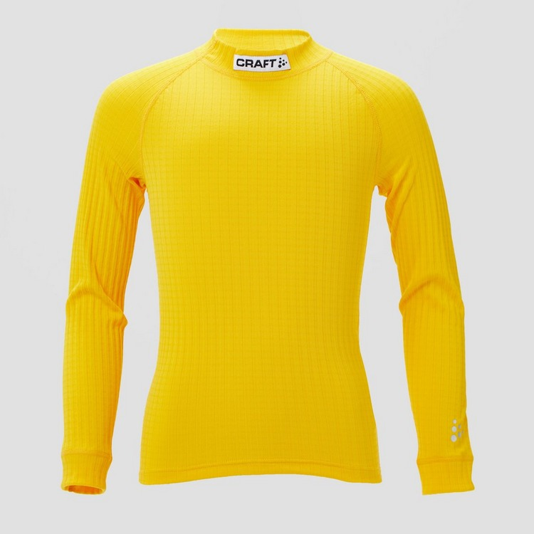 CRAFT PROG BASELAYER THERMOSHIRT GEEL KINDEREN